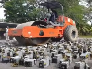 Politie in Maleisië vernietigt ruim 1000 bitcoincomputers